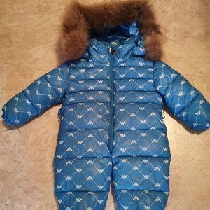 Winter baby winter suite with racoon fur